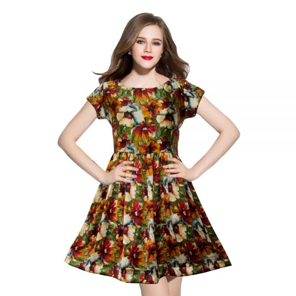 Buy Exclusive Designer Floral Dress Online at cheap prices from Shopkio.com: India`s best online shoping site