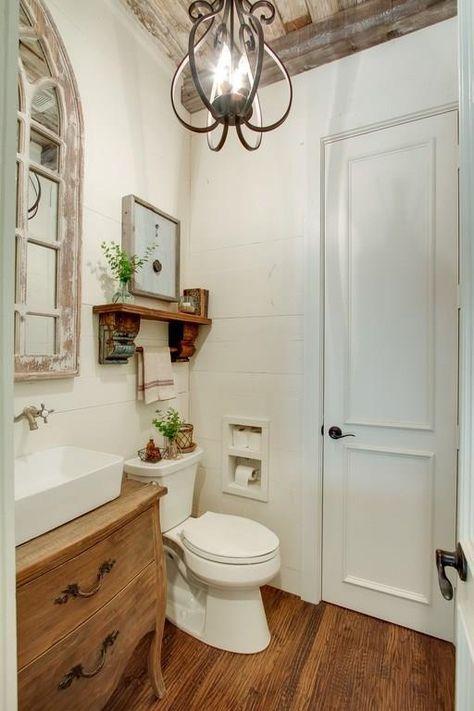 Best 20 modern farmhouse powder room ideas on pinterest - Contemporary half bathroom ideas ...