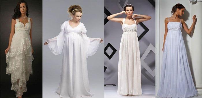 греческие свадебные платья для беременных невест