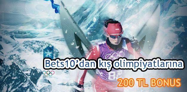 Bets10′dan kış olimpiyatlarına 200 TL BONUS