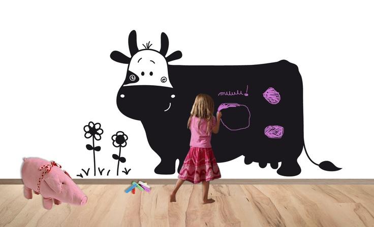 adesivo-lavagna gigante: la mucca :)
