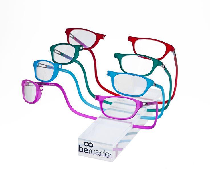 Gafas de lectura con conexión frontal magnética y varilla ajustable. #eyewear #bereader #gafalectura #Garbi