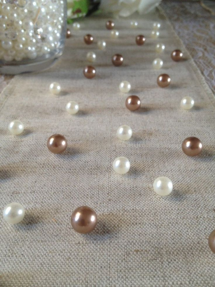 Vintage Table Pearl Ters Copper Brown And Ivory Pearls For Wedding Parties Special Events Decor Confetti