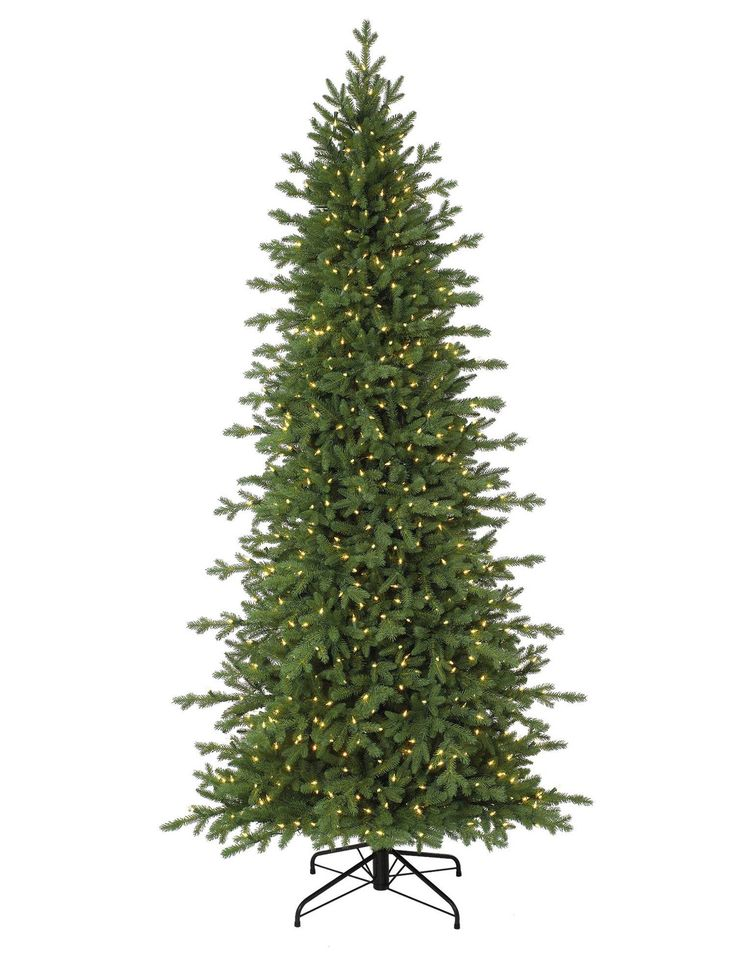 Buy Red Spruce Slim Artificial Christmas Trees Online - Balsam Hill