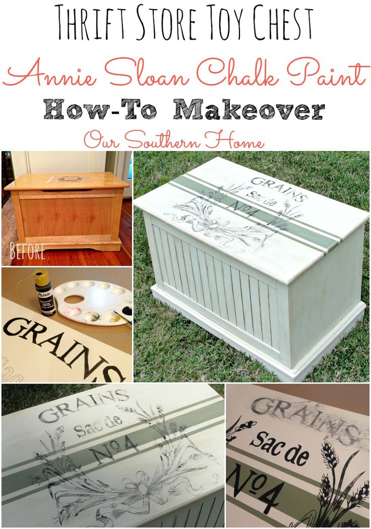 Toy Chest Makeover with Annie Sloan Chalk Paint with graphic How-To by Our Southern Home: