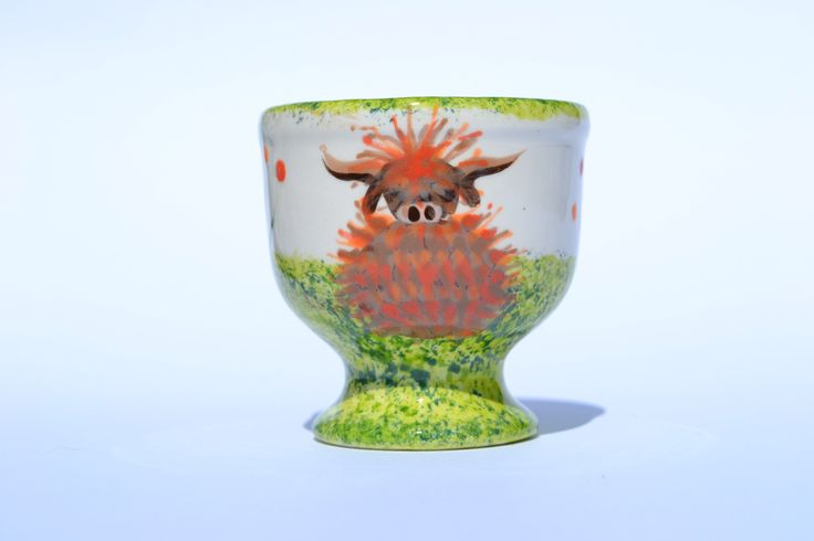 Egg Cup - hand painted in Scotland