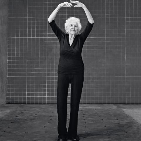 """Esther : age 99  - How to be confident: Treasure your health every day.  """"Your body is your instrument, and you have to take beautiful care of it. I do one hour of yoga and walk for 30 minutes every day. You really enjoy life a lot more if you're healthy. And I never leave home without putting on lipstick—it makes me feel pretty!"""""""