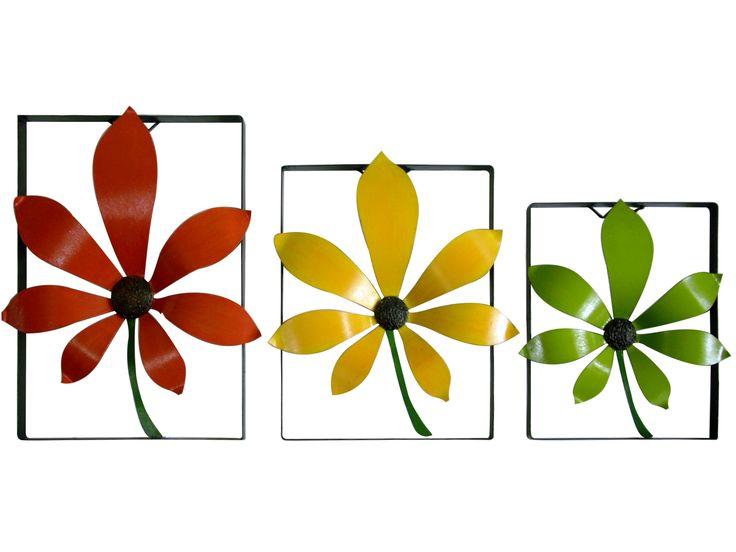 Cuadro Forjado Flor Círculo 40 cm H x 36 cm W / 45 cm H x 40 cm W / 50 cm H x 45 cm W