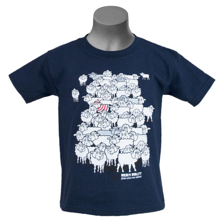 Where's Woolly kid's t-shirt