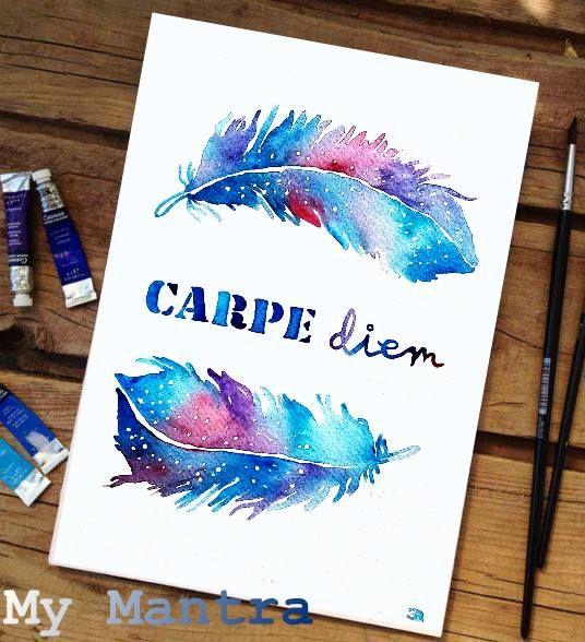 #akvarell képek--- #inspiráló és #pozitív #idézetek #gondolatok #bölcsességek #szavak #carpediem #watercolor #design #dizájn #handlettering #otthon #dekor