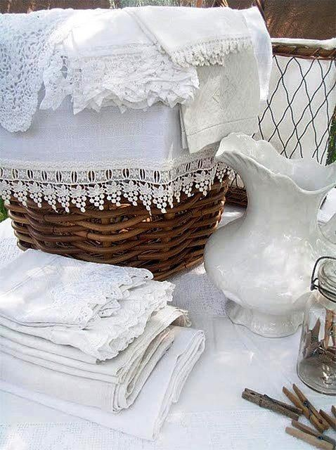 Linen and Lace are timeless and classic and go perfect in any home