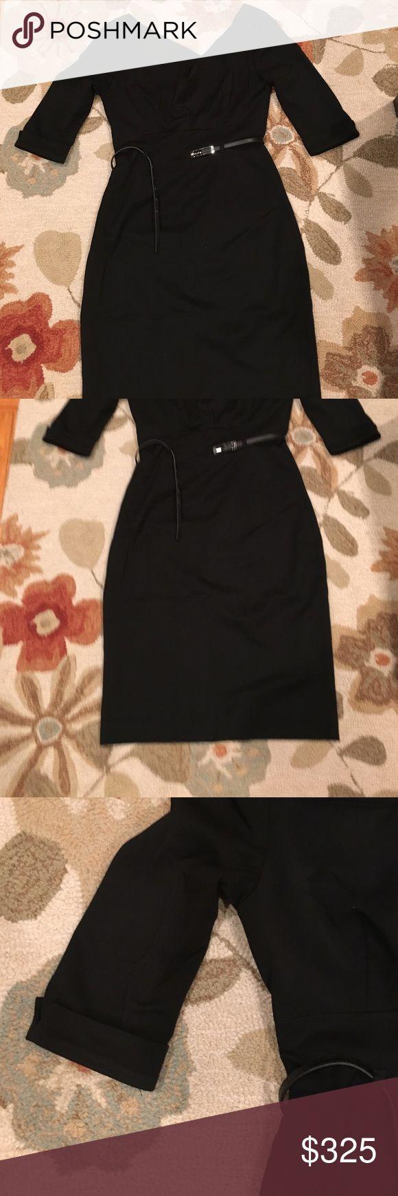 Black Halo Jackie O dress black size 6 Only worn twice, like new Jackie O 3/4 sleeve black dress from Black Halo. Black Halo Dresses Long Sleeve