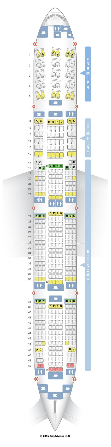 20 best ideas about boeing 777 300 seating on pinterest for Plan cabine 777 300er