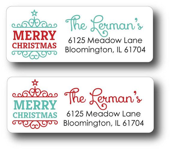 The 25+ best Christmas return address labels ideas on Pinterest - Return Address Label Template