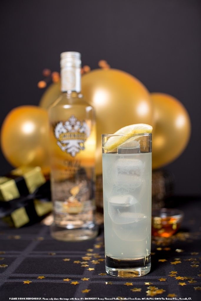 Wild Honey and Lemonade with 1.5 oz SMIRNOFF® Wild Honey Flavored Vodka and 3 oz Lemonade. Shake and serve over ice. Pour in highball glassware. #Smirnoff
