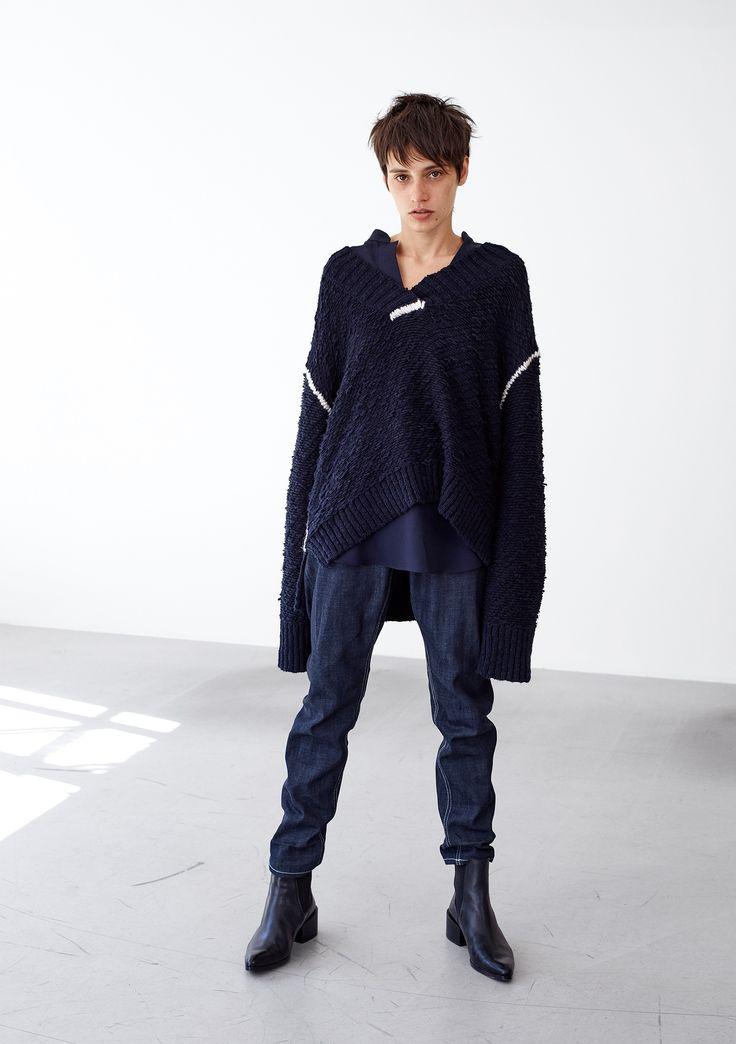 Linked Sweater - Navy #HopeStockholm