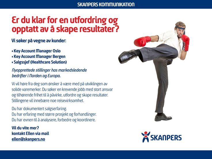 Key Account Manager Oslo | SkanPers.no