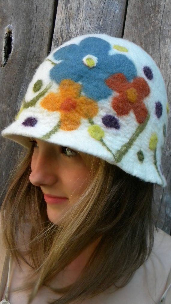 nuno felted hat.