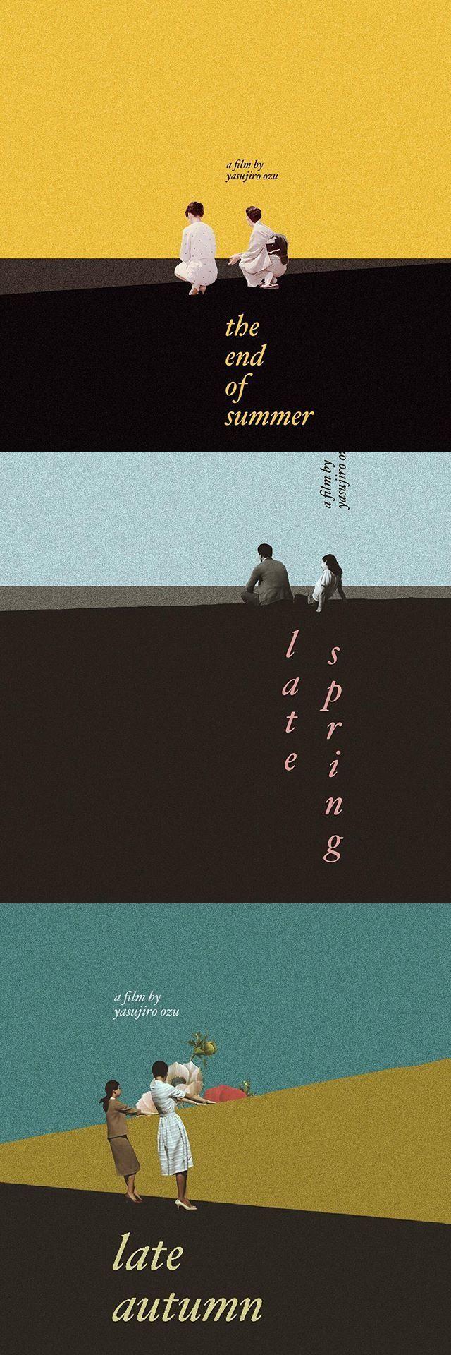 Unofficial Posters of Yasujiro Ozu's films, designed by Fajar P. Domingo