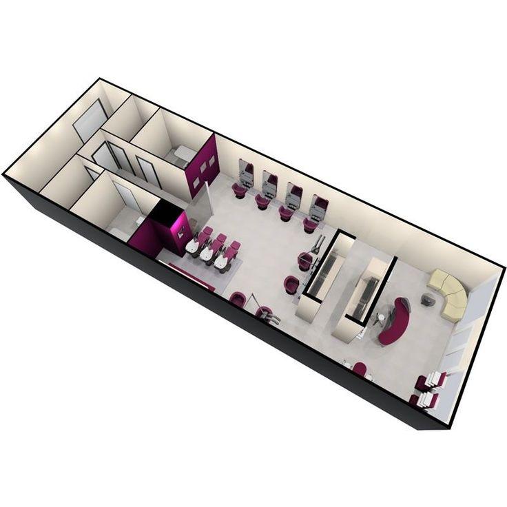 Piani di progettazione per saloni di bellezza | Servizio di progettazione salone REM | Sedie per lo styling | Capitale …