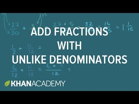 how to add indices with different denominators