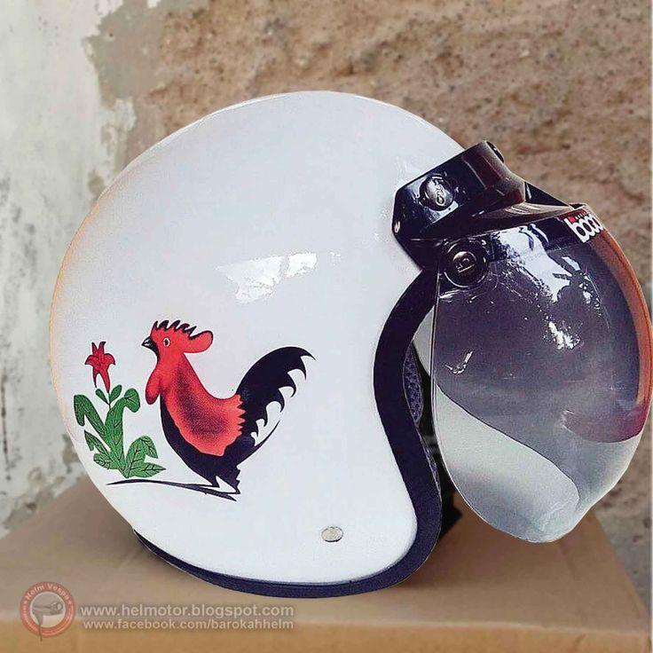Helm Retro Bogo Ayam info harga silahkan contact whatsapp +6281392448955 atau kunjungi www.helmotor.blogspot.com #Hargahelm #hargahelmbogoayam #hargahelmayam #helmayam #helmbogoayam #helmretroayam #helmayamjago #helmretro #helmbogo #helm #helmet #helmets