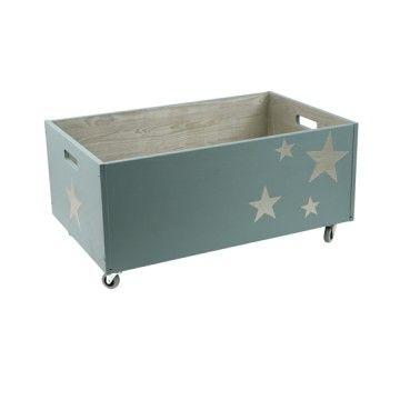 Caisse à jouets Stars Bleues