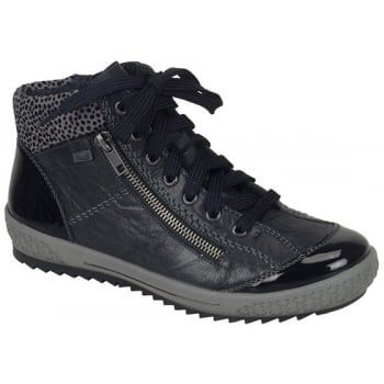 Rieker are one of Europe's premier quality brands and Softlack is a light weight but sporty ankle boot with a side zip and lace-up fastening for ease of entry and adjustability. With a hard-wearing sole, these boots will look just superb either with leggings or your jeans.