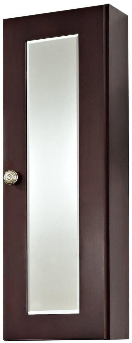 American Imaginations Rectangle Shape Transitional Medicine Cabinet, Comes with a Lacquer-Stain Finish in Coffee Color
