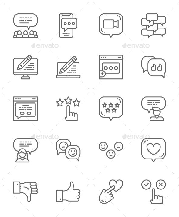 Line Emoji 2020 Halloween Set Of Feedback Line Icons. Pack Of 64x64 Pixel Icons in 2020