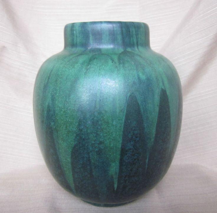Rare zane ware shadow glaze arts and crafts art pottery vase for Arts and crafts vases pottery