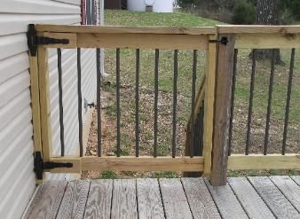 how to make a gate for my deck