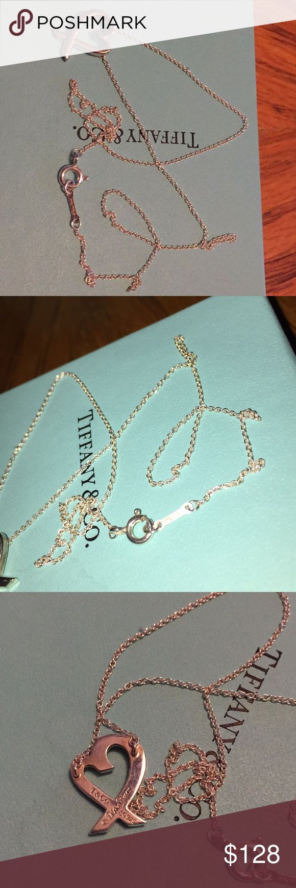 TIFFANY HEART NECKLACE Comes with box and dust bag. Worn once. Tiffany & Co. Jewelry Necklaces