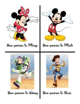 Disney Partner Cards- Free!