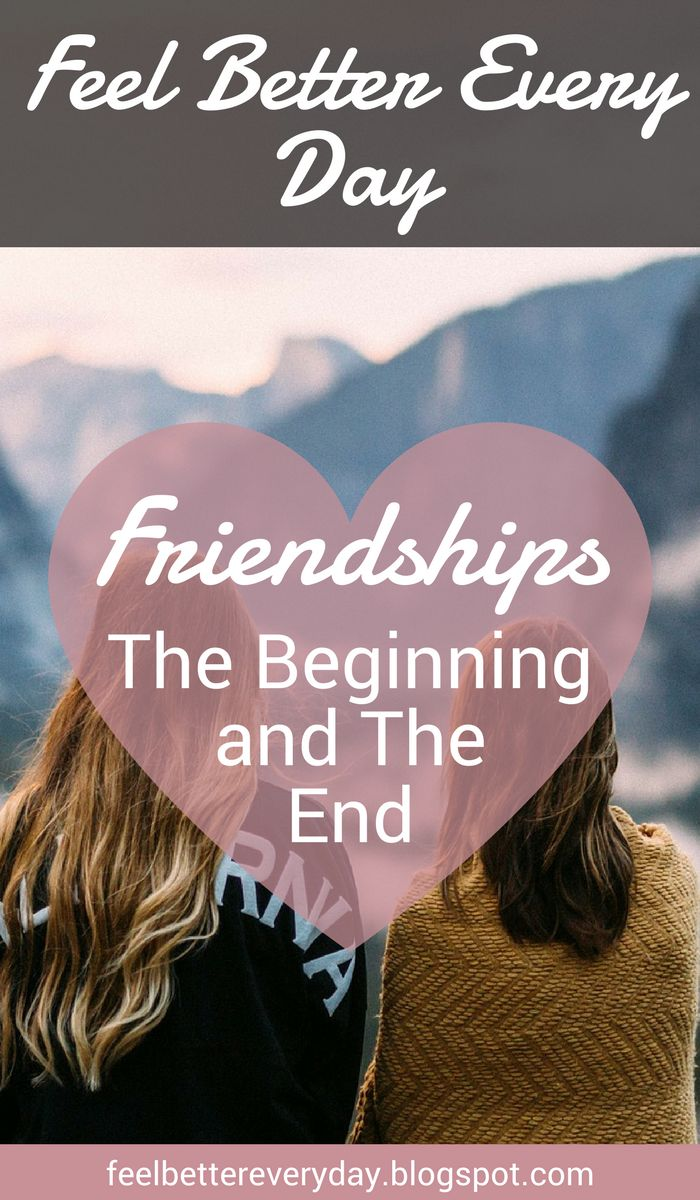 Healthy relationships are part of healthy aging. Here's a look at friendships; the beginning and the end.