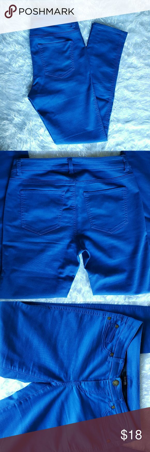 4P Style and Co Electric Blue Skinny Pants 4P! Style and Co Electric Blue Skinny Stretchy Pants. Used once and in excellent condition! Style & Co Jeans Skinny