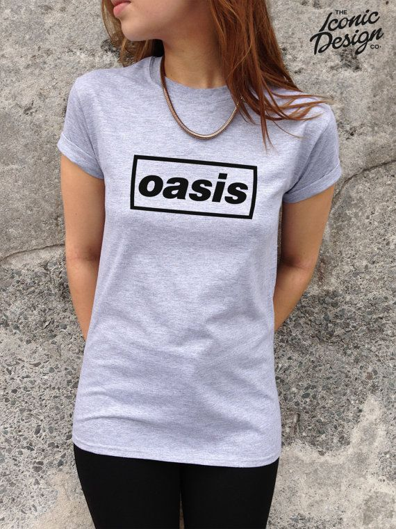 oasis t shirt top band uk rock tumblr fashion tour indie classic retro on etsy would. Black Bedroom Furniture Sets. Home Design Ideas