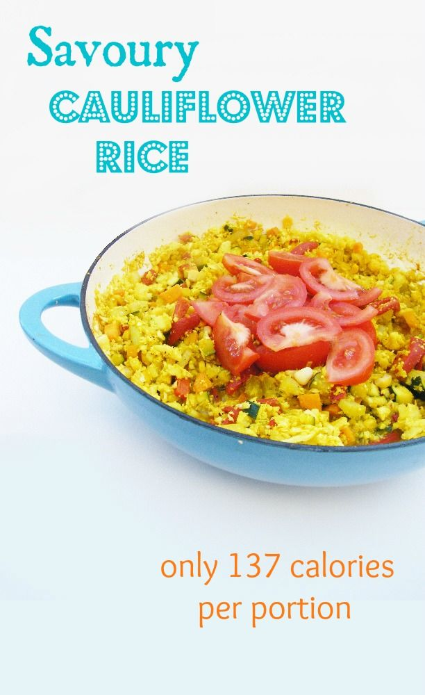 5:2 Diet - Savoury Cauliflower Rice = 137 calories
