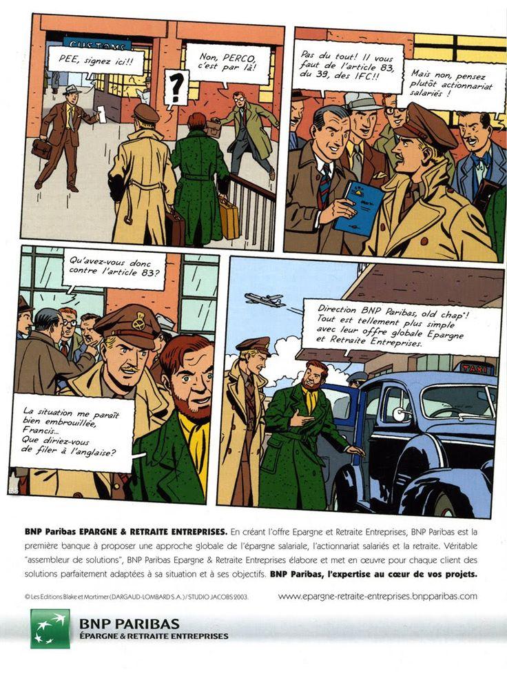 Ted Benoit Dessinateur - Metropolis Journal: Blake & Mortimer pour BNP Paribas, 2003