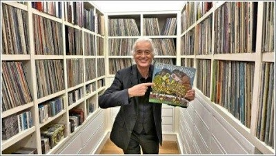 Jimmy Page & his record collection