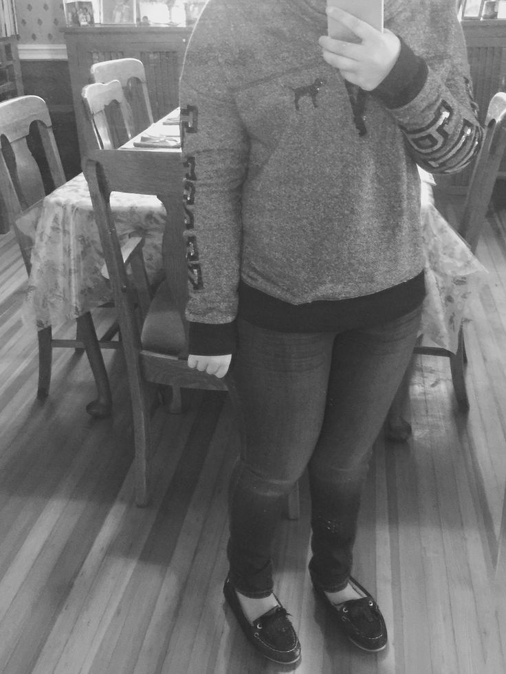 New sweater and sperry