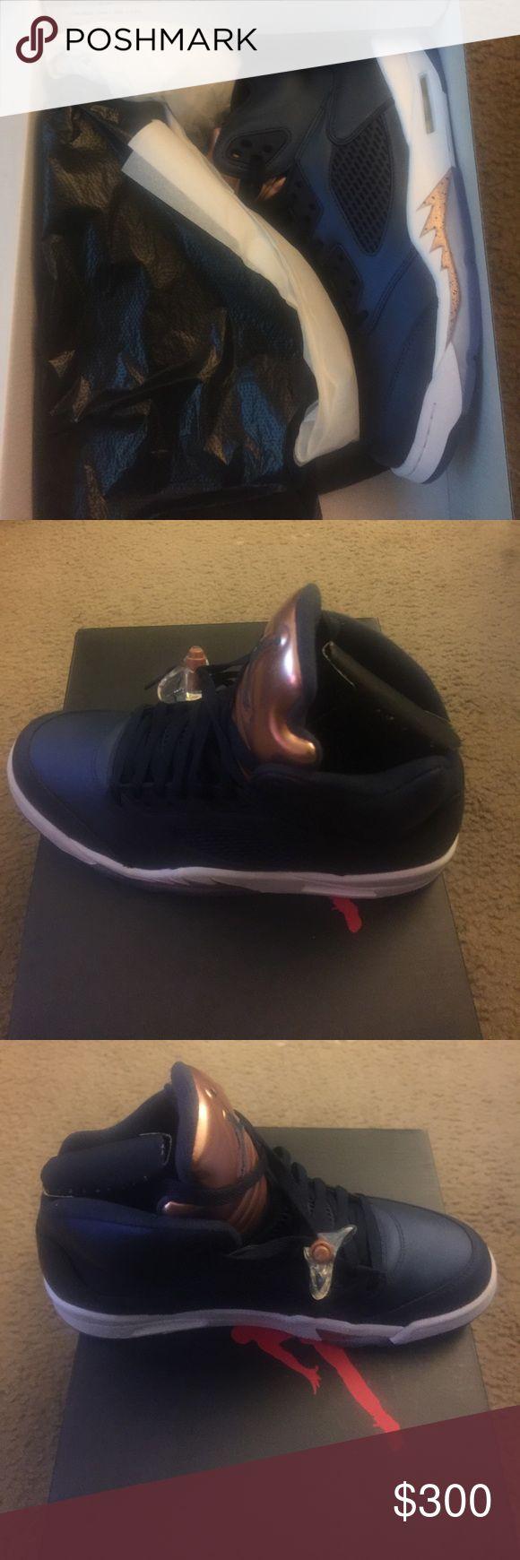 Brand New retro Jordan's in the Box ! Navy Blue and Gold Retro Jordan's Jordan Shoes Sneakers