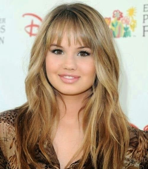 Long Hairstyles With Bangs For Round Face #blonde #wavy