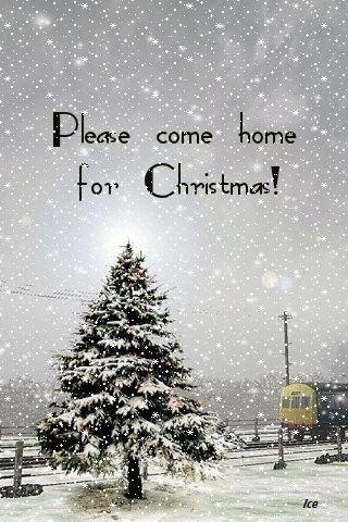 PLEASE COME HOME FOR CHRISTMAS GIF