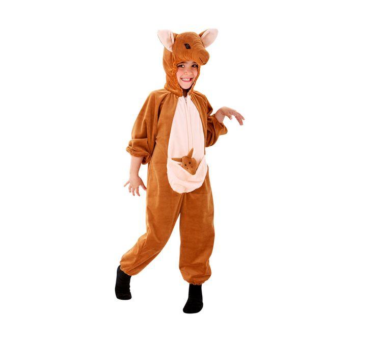 El disfraz de canguro para niño, incluye Mono y gorro en DisfracesMimo.com