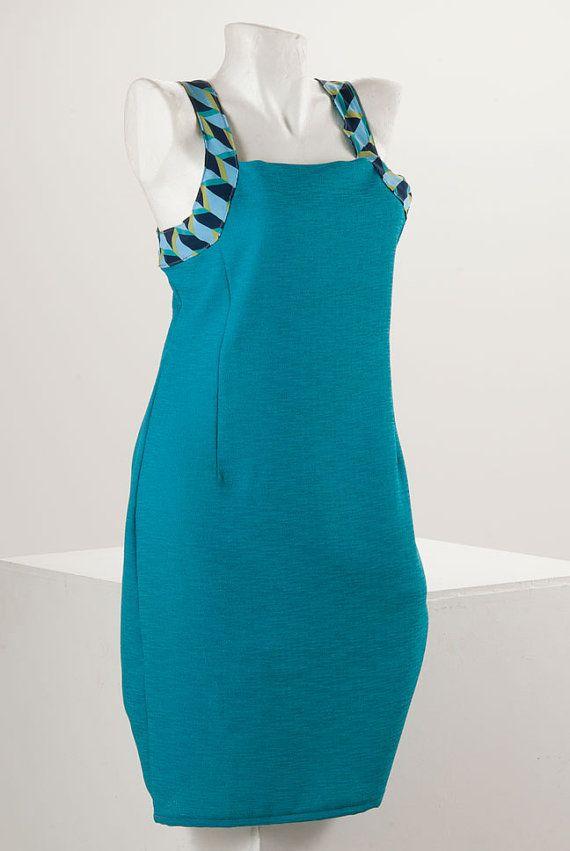La Pomme D'Eve Summer Blue Dress by lapommedeve on Etsy, €60.00