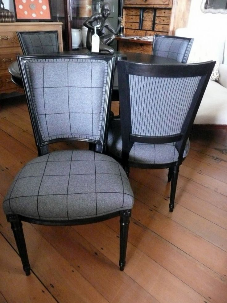 Set Of Four Re Upholstered Louis 16 Style Chairs C.1950