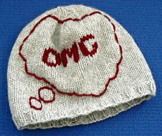 Ravelry: OMG thought bubble skull cap/beanie, knitting pattern Crafty: Knit...