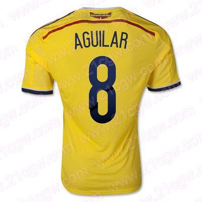 """Maillot Colombie Domicile Coupe du monde 2014 (8 Aguilar) Pas Cher - 21cgw.com"""" />"""