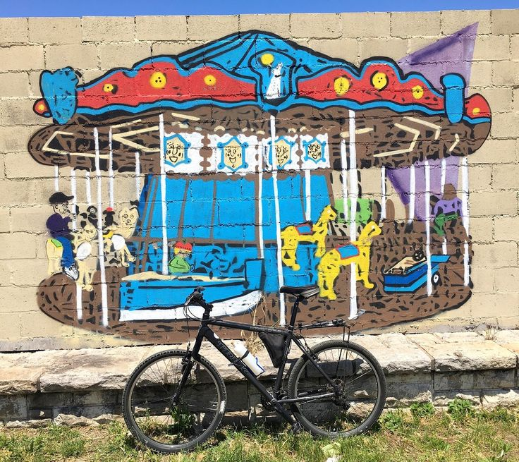 stencil carrousel bicycle stencil calesita bicicleta buenos aires,argentina